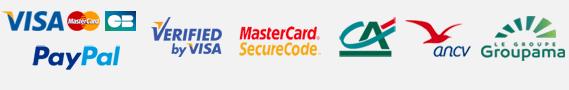 Visa - Mastercard - CB - 3D Secure - Crédit Agricole - Agence National des chèques vacances - Mondial Assistance