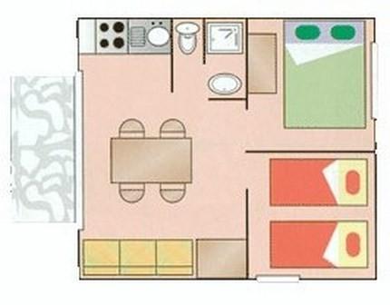 Ferienhaus Camping Parc Bellevue - Bungalow 2Ch 4pers + Terrasse (2257854), Valras Plage, Mittelmeerküste Hérault, Languedoc-Roussillon, Frankreich, Bild 1