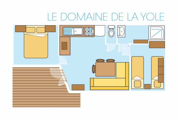 Ferienhaus Camping Domaine de la Yole 5* - Mobil-home Confort - 2 chambres - 5/6 personnes (2259185), Valras Plage, Mittelmeerküste Hérault, Languedoc-Roussillon, Frankreich, Bild 22