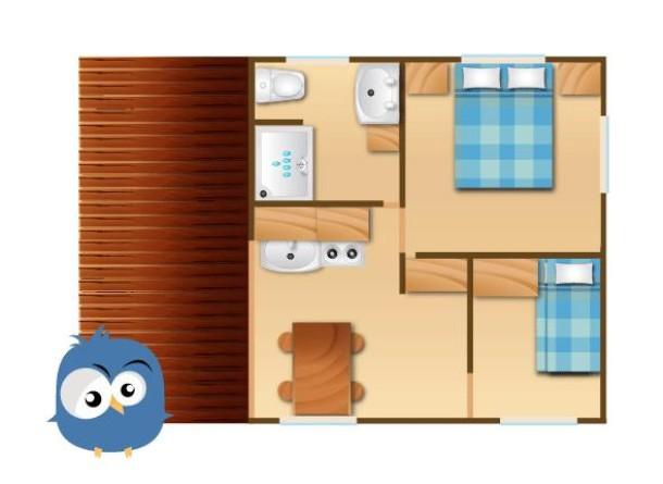 Ferienhaus CAMPING LES FAUVETTES - Chalet NEMO Samedi/Samedi (2262586), Anduze, Gard Binnenland, Languedoc-Roussillon, Frankreich, Bild 20