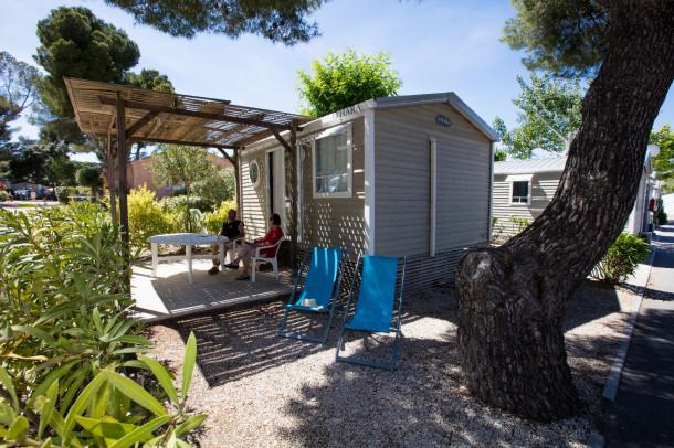 Camping Pascalounet - Mh Confort Plus + Terrasse Couverte (Karte ansehen)  Mobilheim - 6 Personen - 3 Zimmer - 2 Schlafzimmer - 31.6 m²