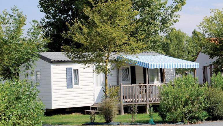 Vente privée Camping 4* Atlantique – Votre mobil-home équipé avec terrasse